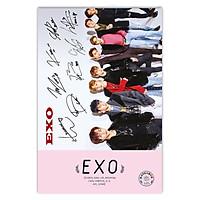 Sổ nhật kí EXO sổ tay thần tượng kèm chữ ký