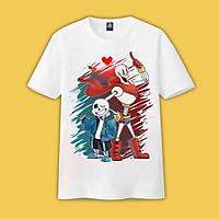 Áo thun Sans Undertale ink T01 mẫu mới cực đẹp, áo phông Sans có size bé cho trẻ em, unisex phù hợp cho nam nữ, màu trắng thiết kế cổ tròn basic cộc tay thoáng mát