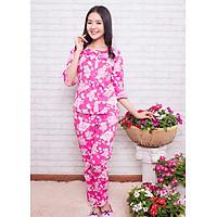 Đồ mặc nhà Bộ dài tay lỡ nữ Tvm Luxury Homewear B410