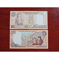 Tiền xưa đảo Síp 1 Pound, sưu tầm tiền châu Âu , mới 100% - tặng kèm bao lì xì