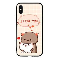 Ốp lưng viền TPU cho điện thoại Iphone X - I Love U