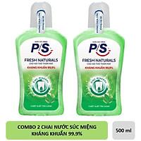 Combo 2 Chai Nước Súc Miệng P/S Fresh Naturals 500ml