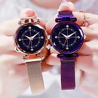 Đồng hồ thời trang nữ dây kim loại Knc1 mặt kính sang trọng. khóa nam châm - không kèm vòng tay