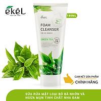Sữa rửa mặt trà xanh EKEL Green Tea Foam Cleanser 180ml