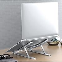 Giá đỡ Laptop MacBook Ipad bằng nhôm có thể điều chỉnh độ cao, gập lại được - Hàng chính hãng Like Tech