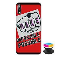 Ốp lưng điện thoại Asus Zenfone Max Pro M2 hình Make Impossible Possible tặng kèm giá đỡ điện thoại iCase xinh xắn - Hàng chính hãng