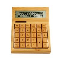 Bộ đếm máy tính điện tử tre đa chức năng 12 chữ số Năng lượng mặt trời và pin kép cho trường học văn phòng tại nhà