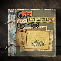 Scrapbook Live Laugh Love (20 x 20 cm)