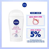 Sáp Ngăn Mùi NIVEA Extra Whitening Trắng Mịn Mờ Vết Thâm (40ml) - 82896