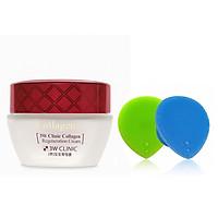 Kem Chống Lão Hóa Dưỡng Trắng Da Hàn Quốc Cao Cấp 3W Clinic Collagen Regeneration Cream (60ml)+ Tặng Dụng Cụ Rửa và Massage Mặt Silicon Mềm Dẻo Hàn Quốc Suri Facial Cleansing Fad – Hàng Chính Hãng
