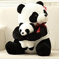 Gấu trúc Panda nhồi bông - 2 mẹ con gấu - 30cm