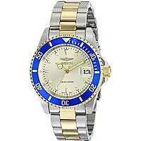 """Invicta Men's ILE8928OBASYB Limited Edition """"Pro Diver"""" Two-Tone Automatic Watch with Link Bracelet"""