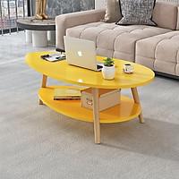Bàn sofa gỗ 2 tầng hình trứng đẹp hiện đại cho phòng khách gia đình FNL-56