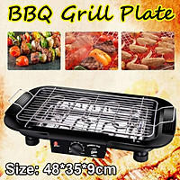 Portable Non-stick Electric Grill BBQ Grill Plate Pan F Outdoor Camping Cooking