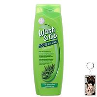Dầu gội loại bỏ bã nhờn Wash&Go Shampoo Herbal Extracts 400ml + Móc khóa