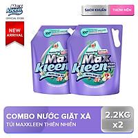 Combo 2 Túi Nước Giặt Xả MaxKleen Thiên Nhiên 2.2kg x 2