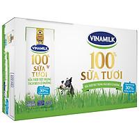 Thùng 48 Hộp Sữa Tươi Tiệt Trùng Vinamilk 100% Tách Béo Có Đường (180ml / Hộp)