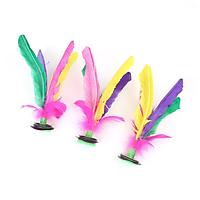 [3 sản phẩm] Cầu đá lông gà với đế cao su cực êm chân - Kích thước 20cm