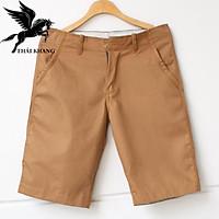 Quần short nam kaki đen trơn vải mềm vải đẹp loại quần kaki hàn quốc