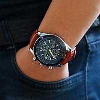 Đồng hồ nam dây da CT3049 phong cách sang trọng mặt kính chống xước cao cấp