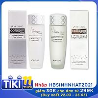 Bộ dưỡng trắng da - Bộ dưỡng da chiết xuất từ Collagen 3W CLINIC Hàn Quốc [Nước Hoa Hồng + Sữa Dưỡng]