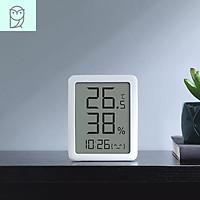 Nhiệt Kế Miaomiaoce Máy Đo Độ Ẩm Màn Hình LCD 3.5 Inch Kỹ Thuật Số Hiển Thị Thời Gian Nhiệt Độ Độ Ẩm 24H Cảm Biến Trong Nhà