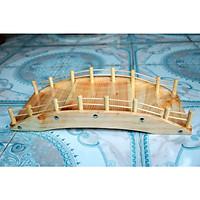Khay Cầu Gỗ 45cm 3 tầng Trang Trí Bánh Ngọt, Trái Cây, Thực Phẩm, Sushi - Sashimi Nhật Bản, Hải Sản Tươi Sống