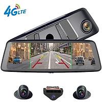 Camera hành trình cao cấp Whexune K950 tích hợp 4 camera, Android 5.1 Wifi 3G/4G GPS - Màn hình cảm ứng: LCD IPS 10 inch - Ram: 2GB, Rom: 32GB - Hàng Nhập Khẩu