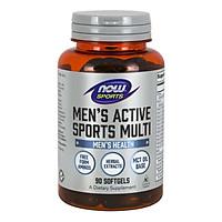 Thực Phẩm Bảo Vệ Sức Khỏe  Bổ Sung Các Vitamin và Khoáng Chất Thiết Yếu Dành Cho Nam Giới Chơi Thể Thao NOW SPORTS - MEN'S ACTIVE SPORT MULTI (90 Viên nang mềm)