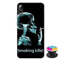 Ốp lưng điện thoại Asus Zenfone Max Pro M2 hình Smoking Kills tặng kèm giá đỡ điện thoại iCase xinh xắn - Hàng chính hãng
