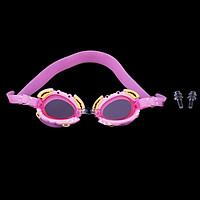 Kids Anti-Fog Waterproof PC Swimming Goggles Glasses Cute Crab Frame