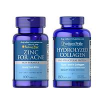 Comb thực phẩm chức năng bảo vệ sức khỏe ZinC for Acne và Hydrolyzed Collagen giúp trị mụn liền sẹo trắng da