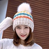 Mũ Len Nữ Lót Lông Phong Cách Hàn Quốc Phong Cách Dễ Thương