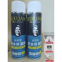 Combo 2 bình xịt sơn chống thấm trần nhà Bixuan dung tích lớn 700ml, sơn chống thấm tường công nghệ Thụy Sĩ