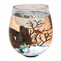 Bể cá mini Mùa Đông combo bể + phụ kiện + thức ăn cá