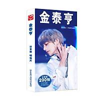 Kpop BTS Postcard V card+sticker