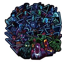 Bộ 100 miếng Sticker hình dán Siêu anh hùng neon