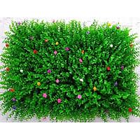 Tấm cỏ nhựa tai chuột đính hoa