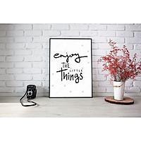 Tranh Canvas Chữ Nghệ Thuật Trang Trí Treo Tường