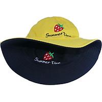 Nón bucket nam nữ thời trang đội được 2 mặt độc đáo Summer Time hình quả dâu tây đẹp mắt