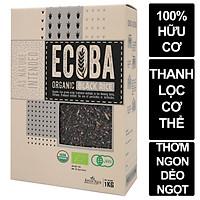 Gạo lứt đen hữu cơ cao cấp/ECOBA Huyền Mễ 1kg - Thơm ngon dẻo ngọt - Thanh lọc cơ thể