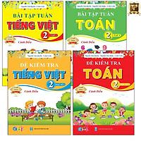 Sách - Combo Bài Tập Tuần và Đề Kiểm Tra lớp 2 - Cánh Diều Toán và Tiếng Việt Học kì 1 (4 cuốn)