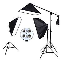 Bộ 3 Đèn Studio Led360 chụp sản phẩm 720W (đuôi 4 bóng đèn) SEIWEI - Hàng nhập khẩu