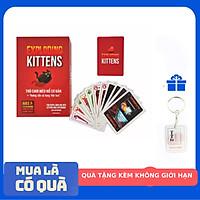 Mèo Nổ Mini Exoloding Kittens cơ bản Tặng Kèm Móc Khóa TTH