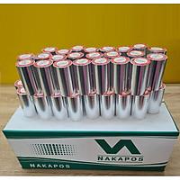 Thùng 100 cuộn giấy in hóa đơn nhiệt K80 Nakapos (bọc bạc) - Hàng chính hãng