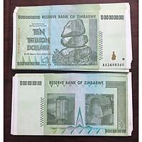 Tờ tiền Zimbabwe cổ lạm phát, mệnh giá 10 ngàn tỷ dollars, sưu tầm