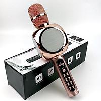 Micro Karaoke Bluetooth Kèm Loa Bass GUTEK YS90, Micro Bắt Giọng Cực Tốt Âm, Thanh Trong Lớn, Bass Cực Hay, Hỗ Trợ Kết Nối Usb, Thẻ Nhớ, Cổng 3.5, Nhiều Màu Sắc - Hàng chính hãng