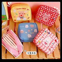 Túi mini đựng son, đồ skincare, giỏ ví cá nhân bỏ túi du lịch hình cute Hàn Quốc giá rẻ