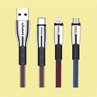 Dây Sạc IOS/Android - Lightning /Type C/Micro Cho Điện Thoại/Máy Tính Bảng   iPhone/Samsung/iPad - VIVAN - Hàng Chính Hãng