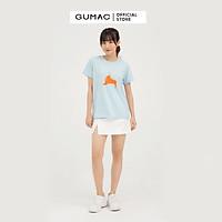 Áo thun nữ GUMAC ATB850 in cô gái couple dễ thương